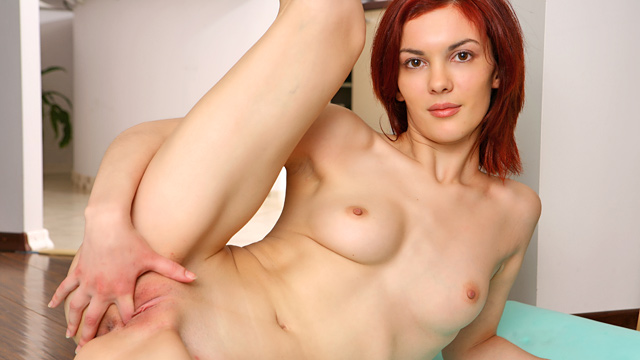 Adela is a red head with long smooth legs a slender waist line and a porcelain skin tone. the slut is truly one of a kind and her sexy horny tubes will prove that!